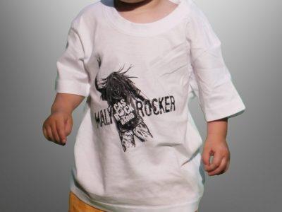 """3a562e5f1fa Mimi bílé tričko """"Malý rocker"""""""
